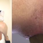 茶髪ロングのきれいな女性がキバリながらうんこをするエロ動画
