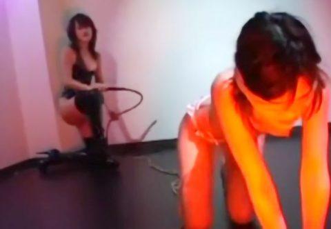 【SM動画】ドSお姉さんがムチ責めでお尻が腫れるくらいに調教され性奴隷化!超淫乱なフェチプレイ!!